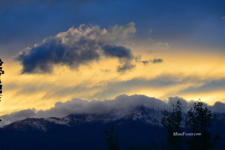 Clouds Pikes Peak Colorado Springs