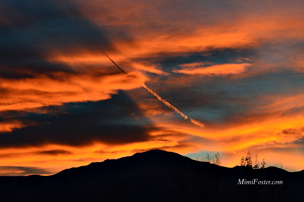 Fiery Sunset Pikes Peak Colorado Springs Colorado